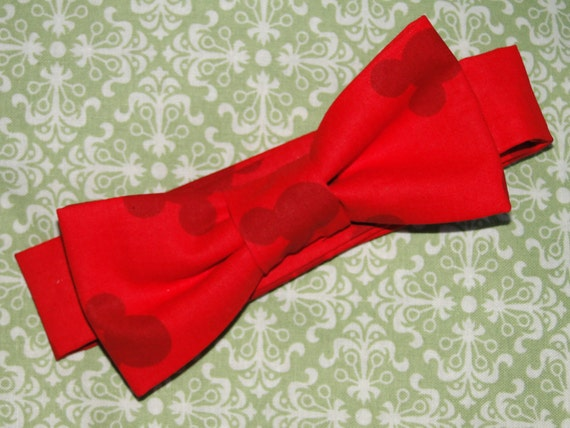 Mickey Mouse Infant/Baby/Toddler Bow Tie and/or Suspenders- Great Photo Prop, Cute for Weddings