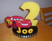 DISNEY CARS PARTY birthday cake topper