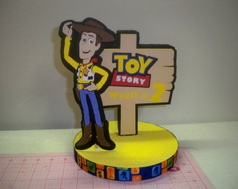 TOY STORY CAKE topper birthday party favor or centerpiece Personalized