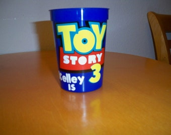 TOY STORY BIRTHDAY party favor cups (set of 5 cups)