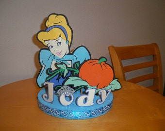 PRINCESS BIRTHDAY PARTY cake topper personalized your choice of princess