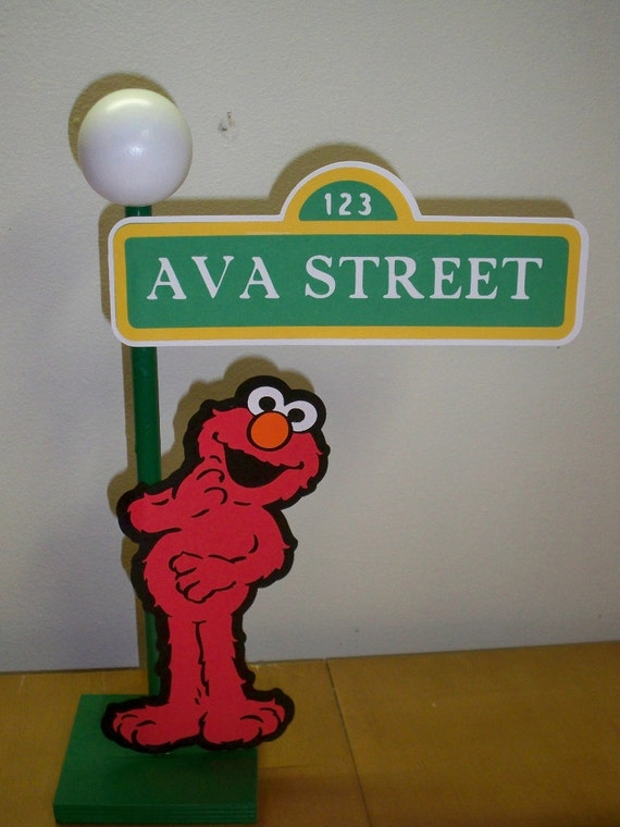 Sesame Street Lamp Post Centerpiece or Decoration for your party