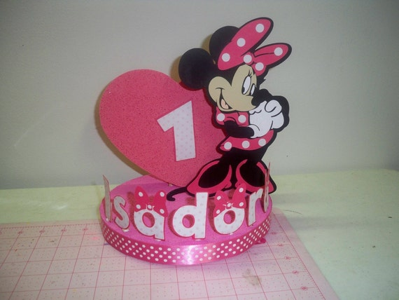 MINNIE MOUSE BIRTHDAY cake topper/party decoration