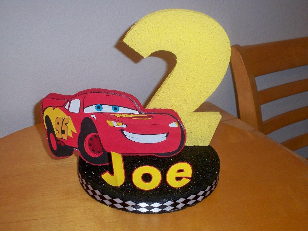 Cake Toppers Birthday Etsy : DISNEY CARS PARTY birthday cake topper by BeyondBalloons ...