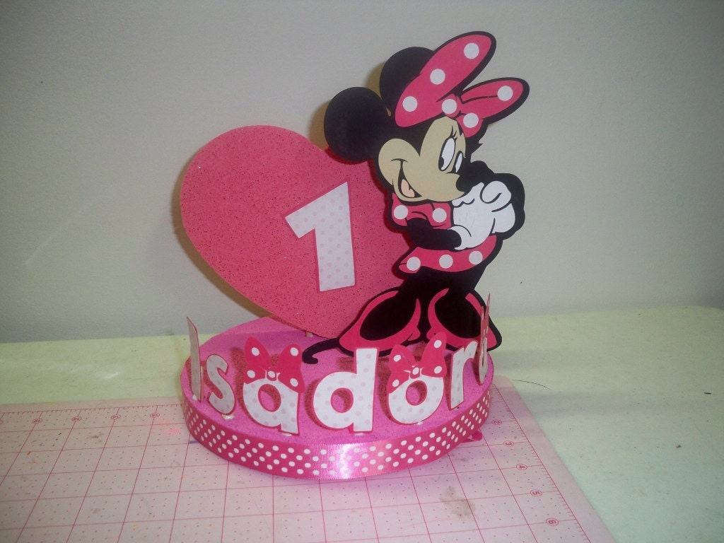 Minnie Mouse Cake Topper Images : MINNIE MOUSE BIRTHDAY cake topper/party decoration