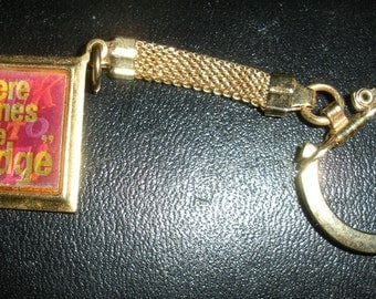 Vintage Sock it to me/Here comes the judge Rowen and Martin Laugh-In flicker keyring