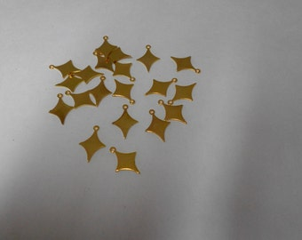 Brass Four Point Star dangle charm  Sooo Golden