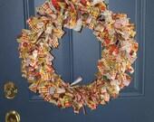 22 in. Fall Wreath
