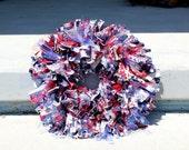 4th of July Bright Stars Fabric Wreath (patriotic)