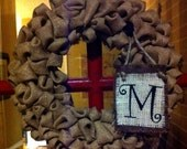Custom Monogrammed 16' Burlap Wreath