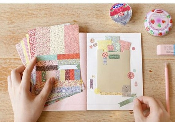 Diary Scrapbook Sticker Label Kawii Country Flower Pattern