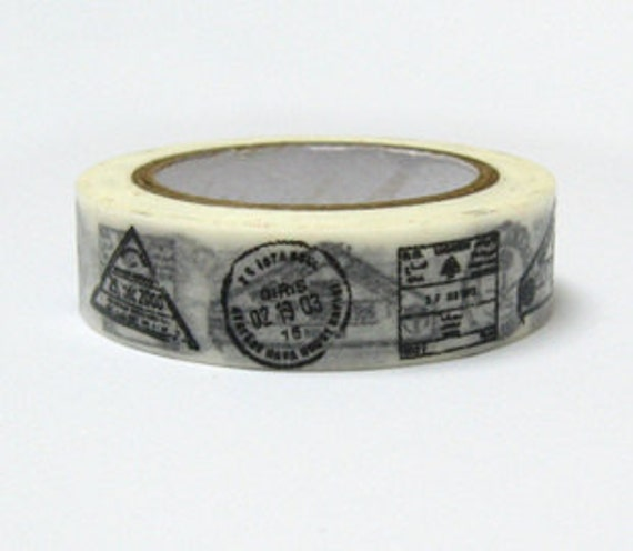 DIY Removable Adhesive Masking Deco Washi Tape - Airmail Stamp