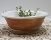 white cereal bowl soup bowl ice cream bowl stoneware ceramic pottery