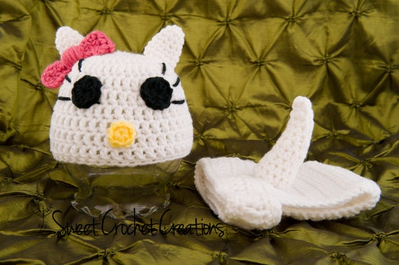 SALE: Kitty Hat and Diaper Cover Set - Ready to Ship