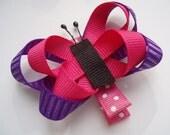Pink & Purple Butterfly clippie
