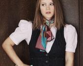 1970s puffed sleeve blouse / vintage purple top / medium