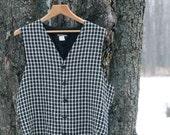 vintage menswear vest / maurices mens patterned vest / small or medium