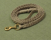 Natural Braided Hemp Dog Leash--7' long.  For Large Dogs.