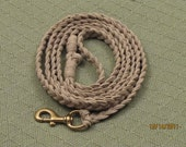 Heavy Duty Hemp Dog Leash--9 Ft long.  For Large or Aggressive Dogs.