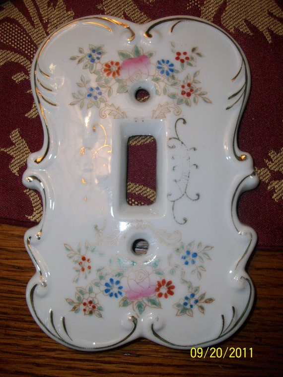 Vintage Victorian Light Switch Plate Cover Japan By Maxshack