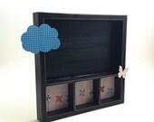 Shadow Box, Photo Display, Home Decor, Butterflies, Pinwheels, Clouds