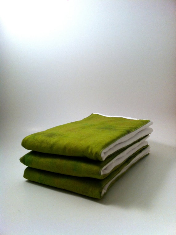 Cloth Diaper Burp Rag Set, Burpie, Burp Cloth, Green, Unisex