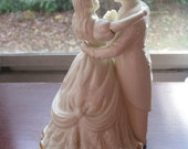 Vintage Victorian Style Wedding Cake Topper of a Couple Dancing Figurine