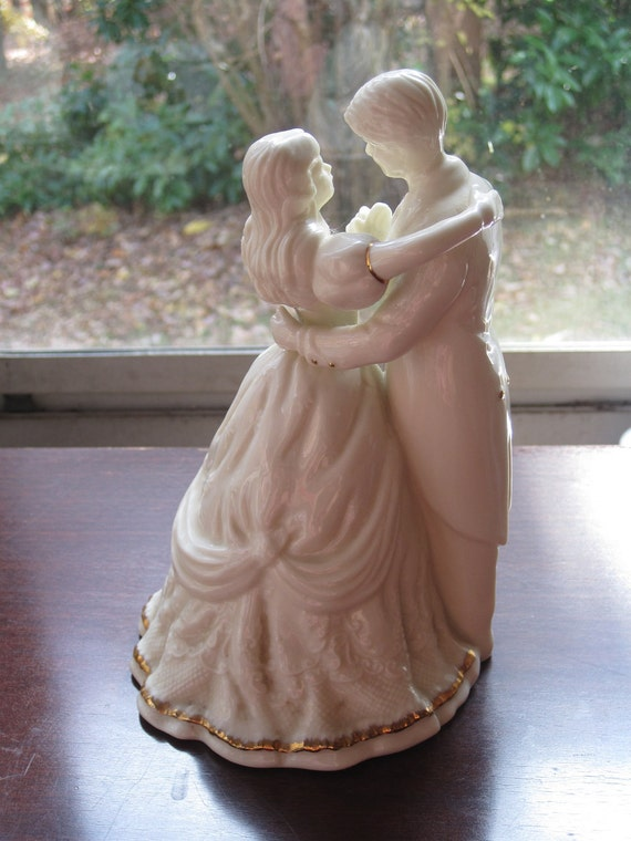 Vintage Victorian Style Wedding Cake Topper Of A By