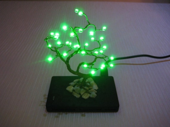 LED wired bonsai tree based on Combo All in 1 USB 2.0  Hub 3 Ports and Card Reader.