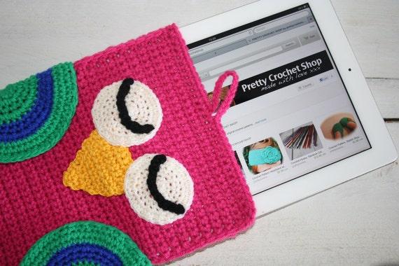 Crochet Pattern, Owl iPad Sleeve, EASY