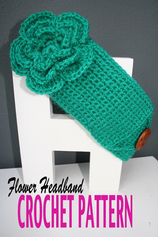 Large Crochet Flower Pattern For Headband : Crochet Pattern Headband with Big Layered Flower Easy