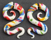 Fake Gauge Earrings, Fake gauges, - Playground - Polymer Clay