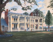 """Reserved for T.N.  Carnton Plantation, Giclee 14x18"""" Size, Unframed, Raymon Troup"""