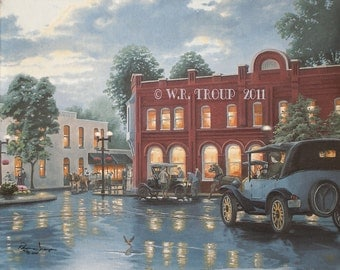 Franklin, Tennessee Square, The Town Square by Raymon Troup, 11x14 Giclee