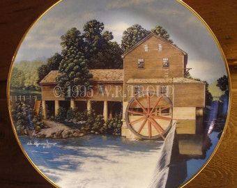 Mill Collector Plate in Fine Porcelain