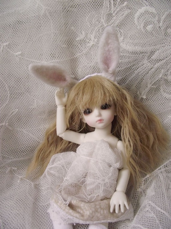 Headband Rabbit Bunny Ears for BJD Doll 1/8 or 1/6 Dollfie