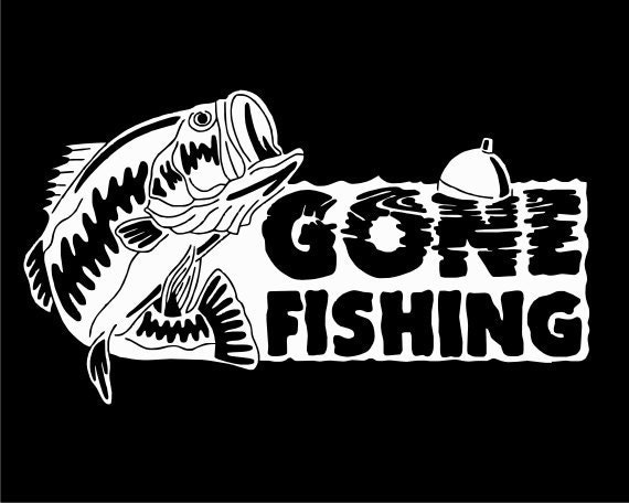 Items Similar To Gone Fishing Bass Vinyl Decal On Etsy