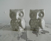 v i n t a g e modern owl salt & pepper shakers