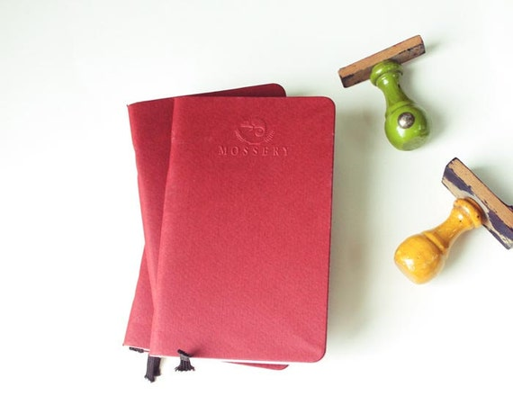 Red Pocket Notebook Handmade By Mossery