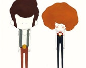 Pepe & Pepa A4 Print (11,7in by 8,3in). By Laura Carreira Vidal.
