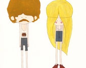 John & Leah A4 Print (11,7in by 8,3in). By Laura Carreira Vidal.