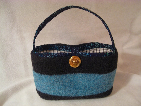 "FELTED WOOL Purse Hand Knit Handmade Bag Evening Day Special Occasion Wedding ""theforestguild"""
