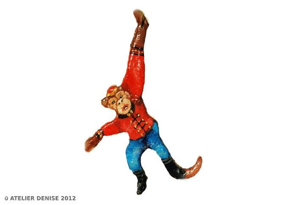 Bell Hop Monkey Ornament