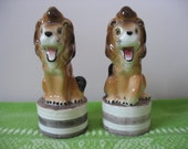 Lion Salt And Pepper Shakers Circus Lion Roaring Lions Salt & Pepper Made in Japan Set of Two