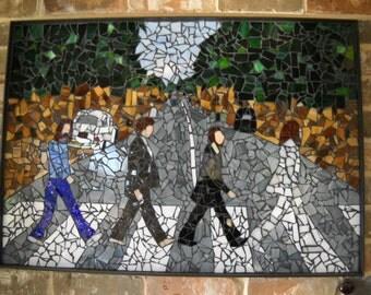 Beatles Abbey Road Glass Mosaic