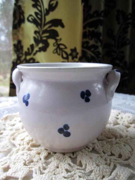 Vintage white ceramic clay pot