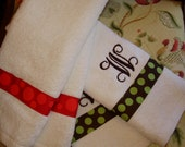 Personalized Hand Towels-Set of 3 Free Shipping