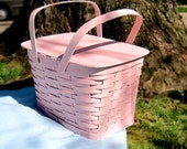 Big Pink Picnic Basket