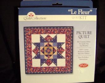 Le Fleur Country Patchwork Quilt Fabric Kit