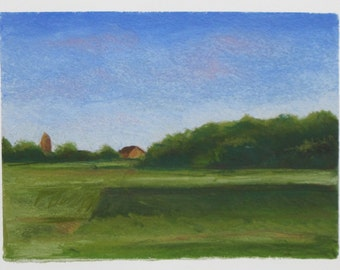 Landscape Pastel Drawing